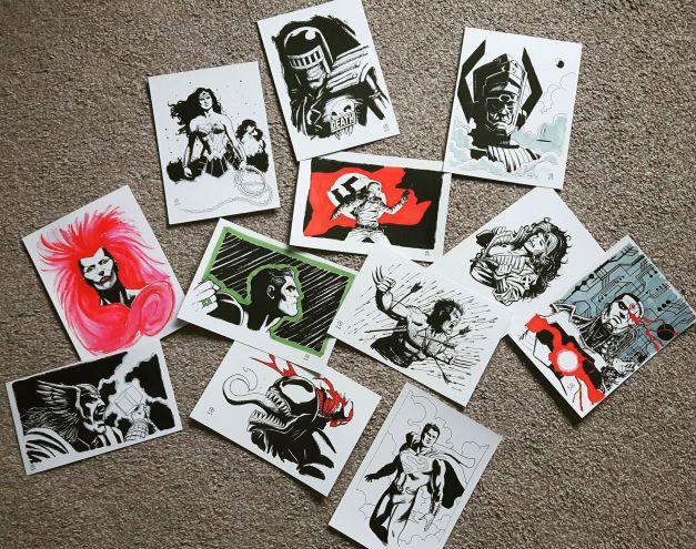 Patrick Goddard sketches